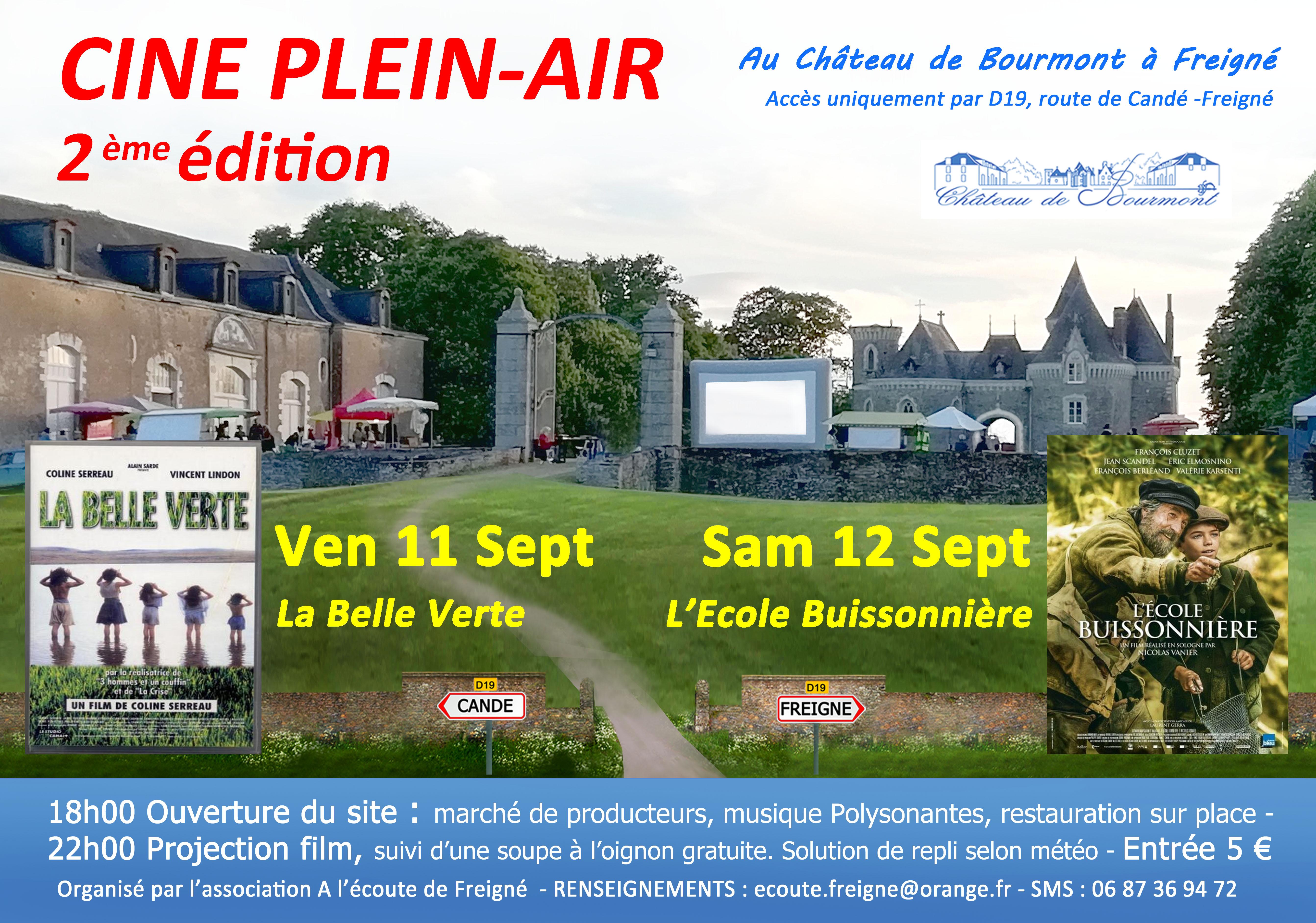 Ciné Plein Air au Château de Bourmont à Freigné