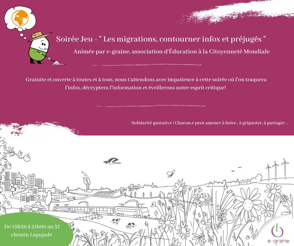 Soirée Jeu » Les migrations, contourner infox et préjugés»
