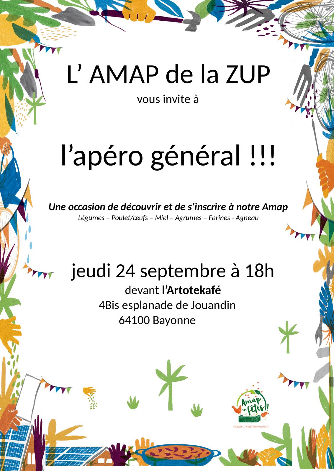 Assemblée apéritive générale AMAP Breuer Bayonne