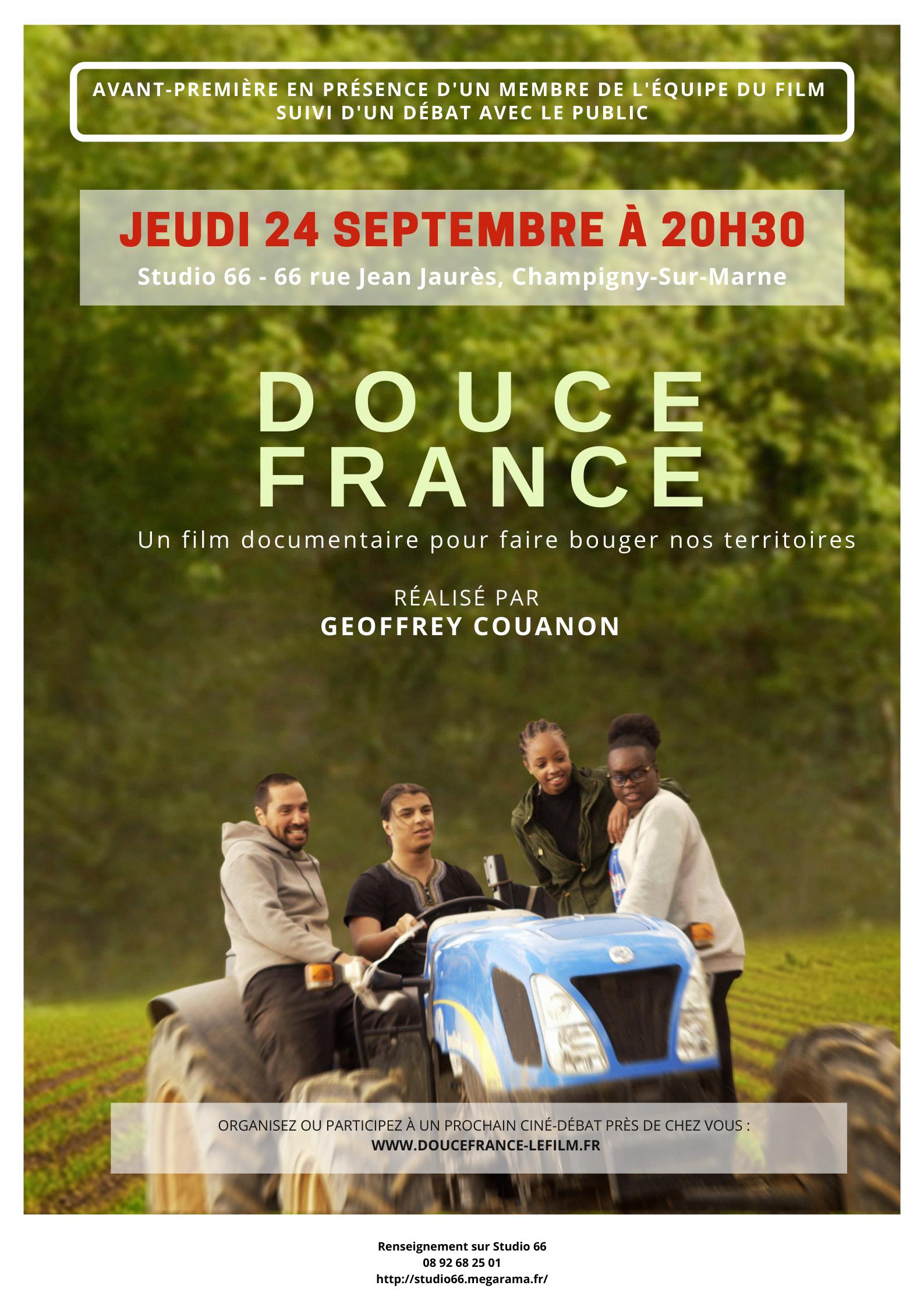 Projection du film «Douce France»