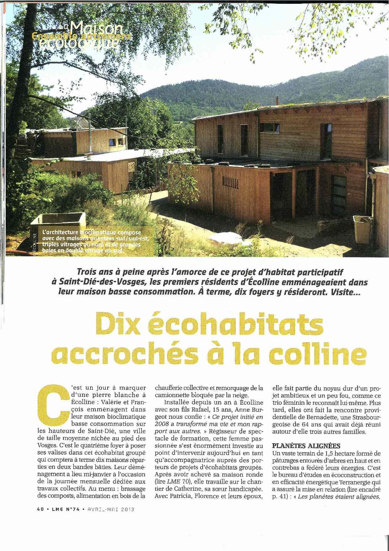 Journée Portes Ouvertes Habitat Participatif  Ecolline
