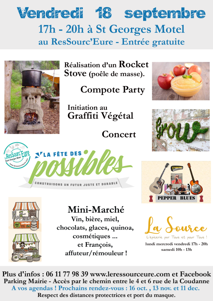 Consommer local, partager des savoirs, faire la fête … c'est la rentrée au ResSourc'Eure !