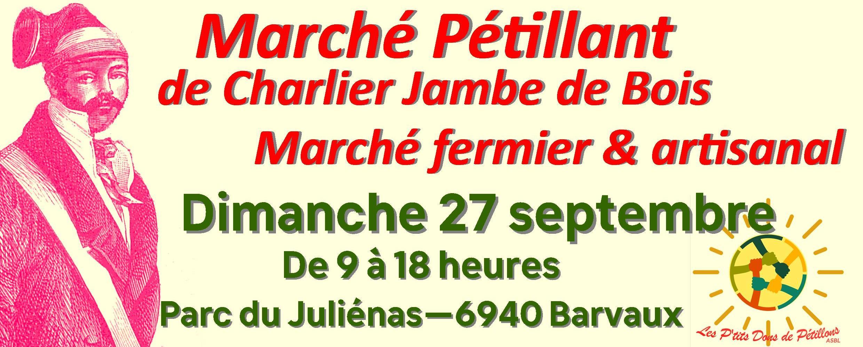 Marché Pétillant de Charlier Jambe de Bois