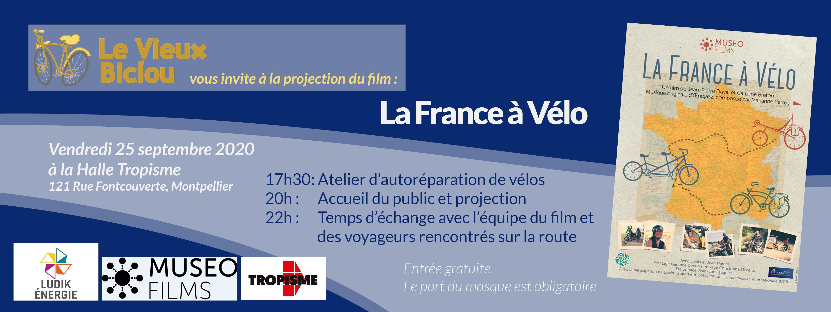 Projection Plein Air «La France à vélo»