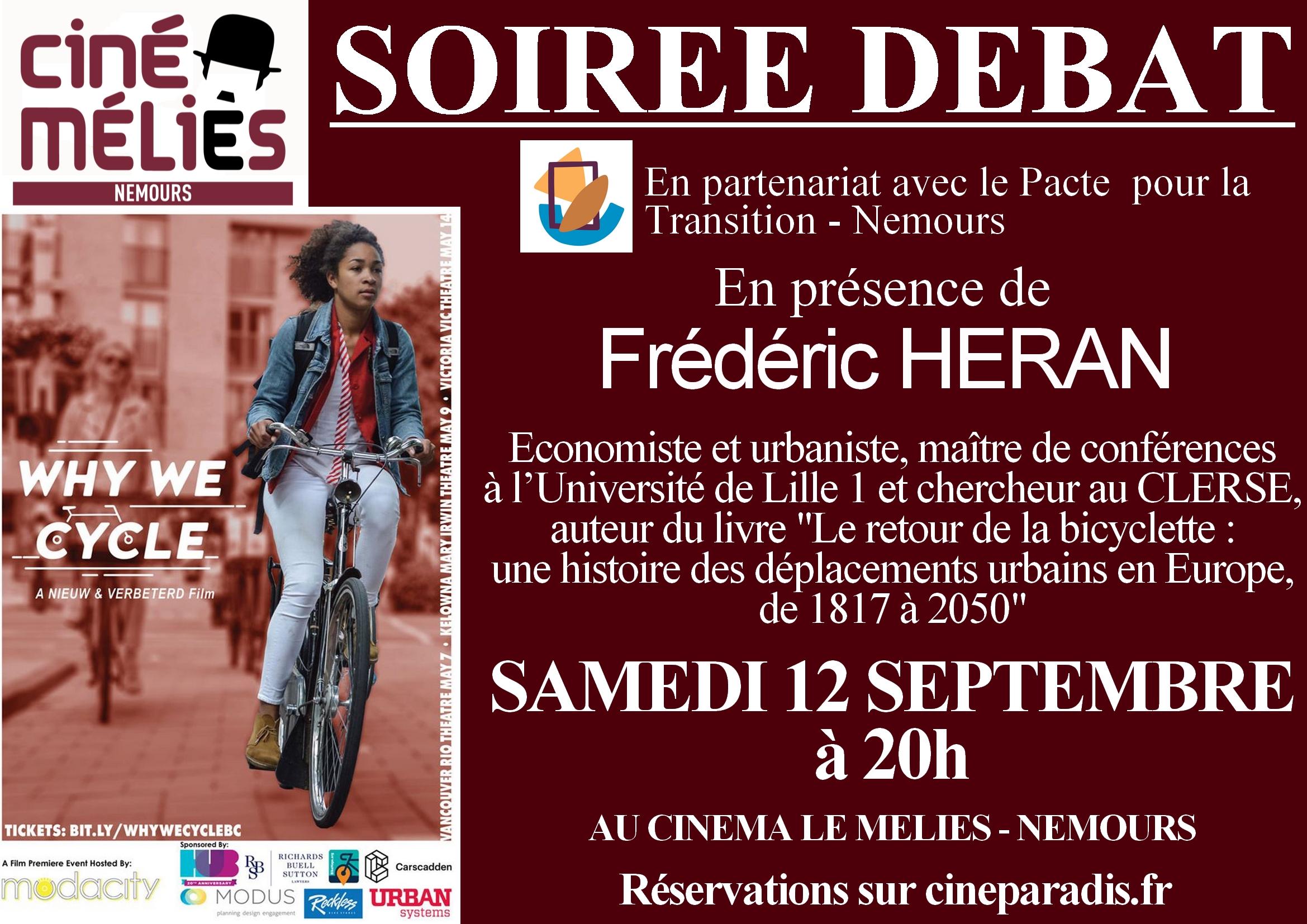 Documentaire «Why we cycle» suivi d'un débat avec F. Heran sur l'utilisation du vélo en ville