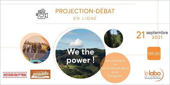 Projection-rencontre en ligne : «We the power»
