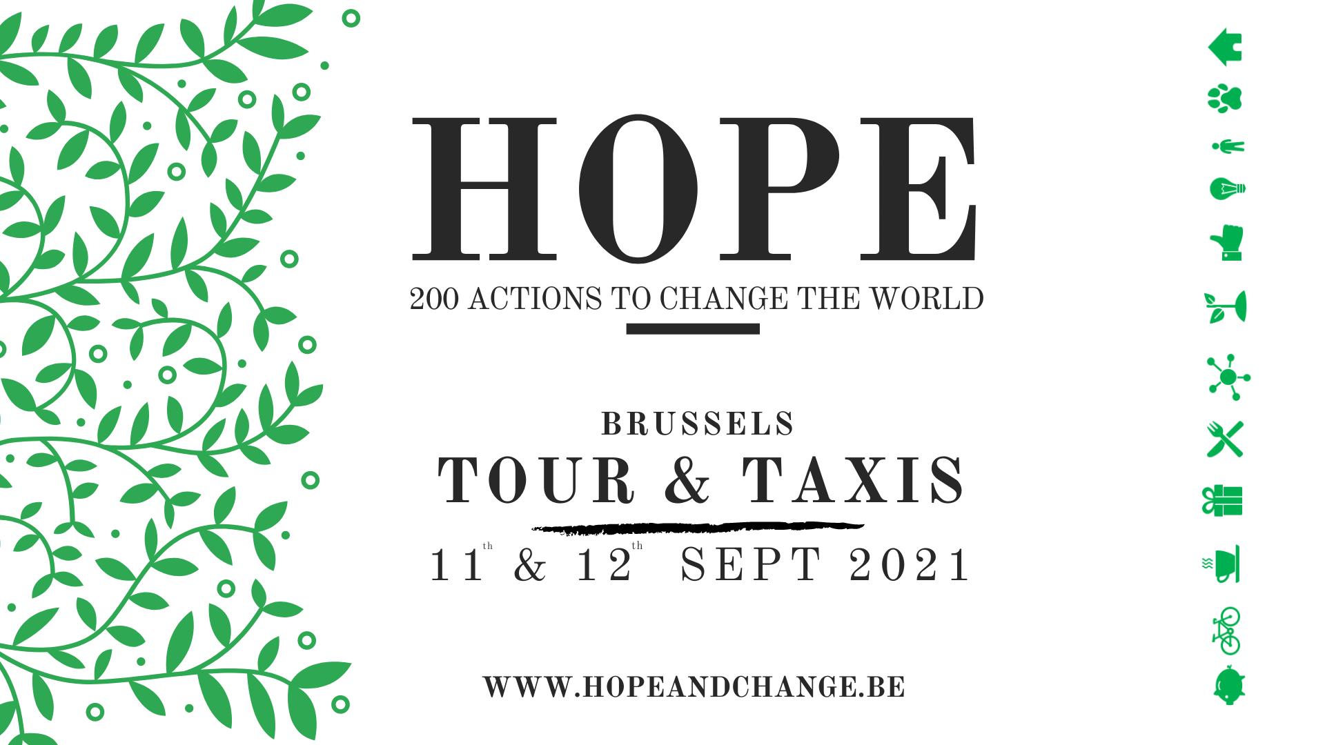 HOPE: 200 projets pour changer le monde @ Tour&Taxis