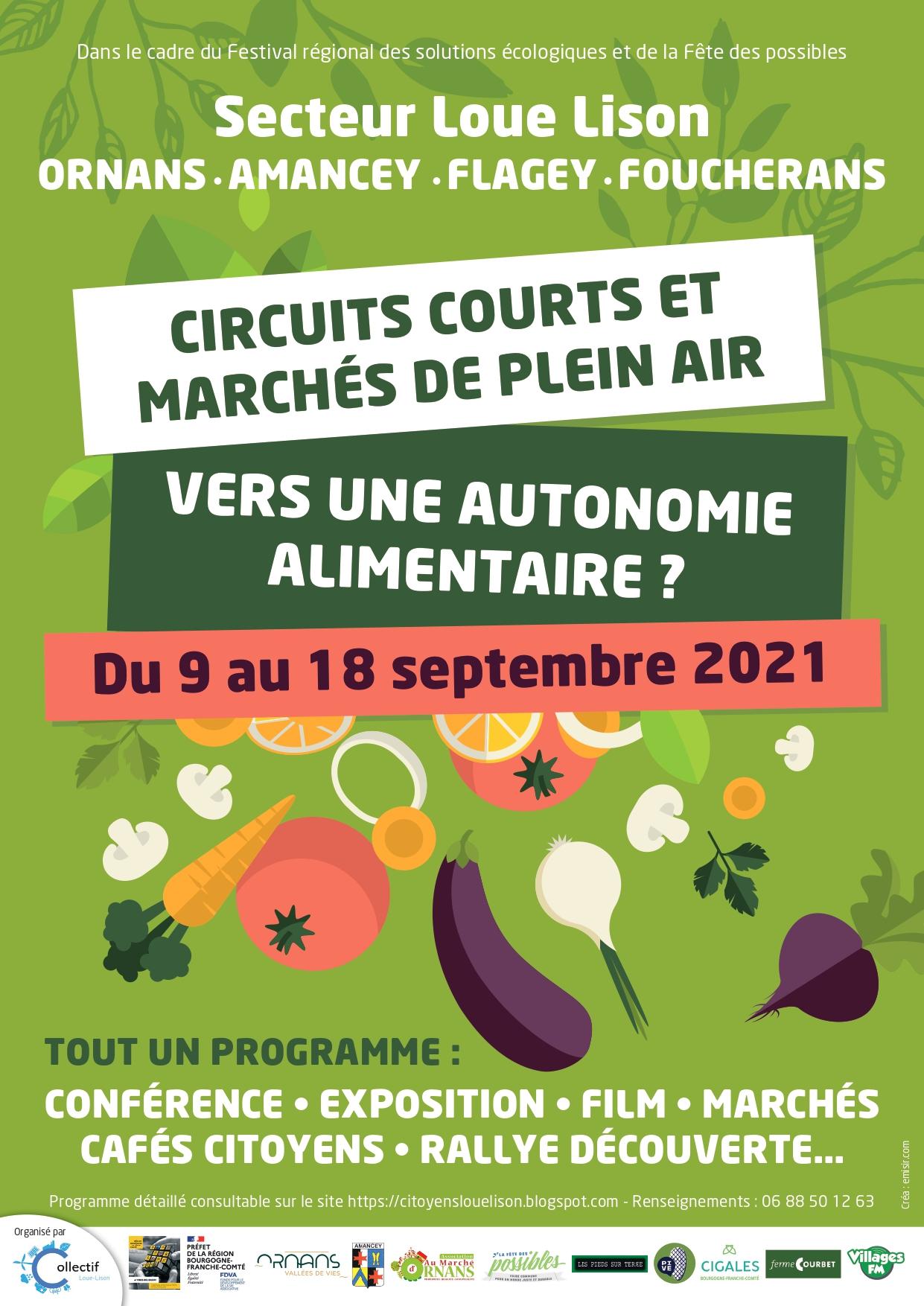 Circuits courts, marchés de plein air , vers une autonomie alimentaire