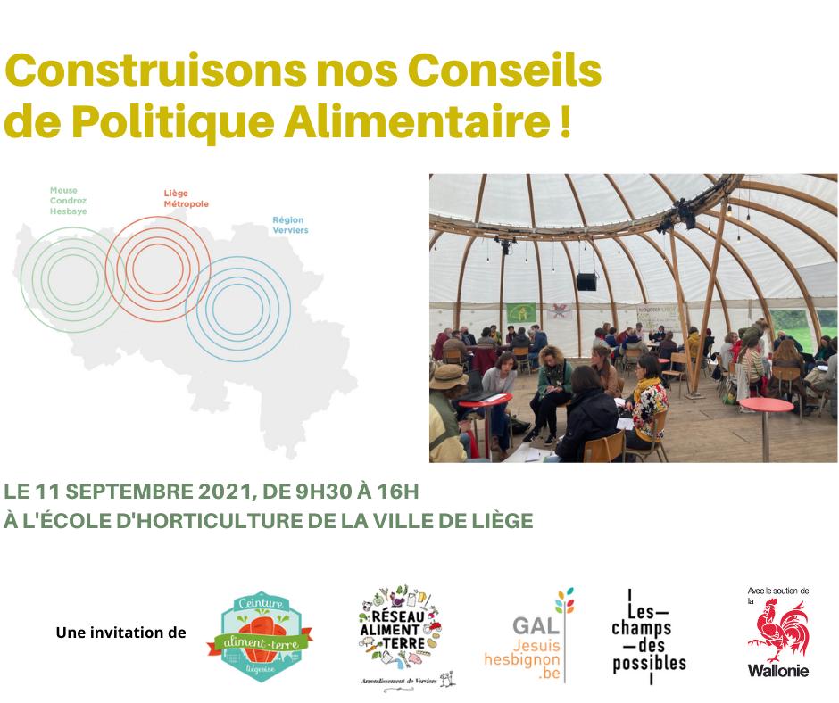 Forum «Construisons notre Conseil de Politique Alimentaire»