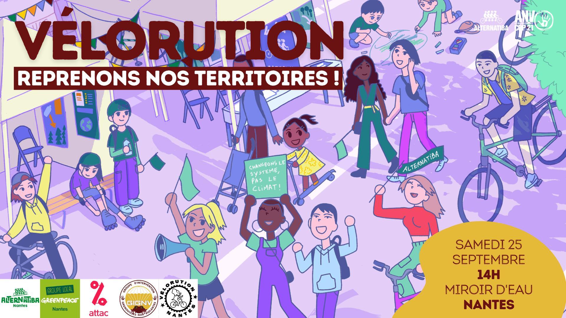 Vélorution · Reprenons nos territoires ! · NANTES