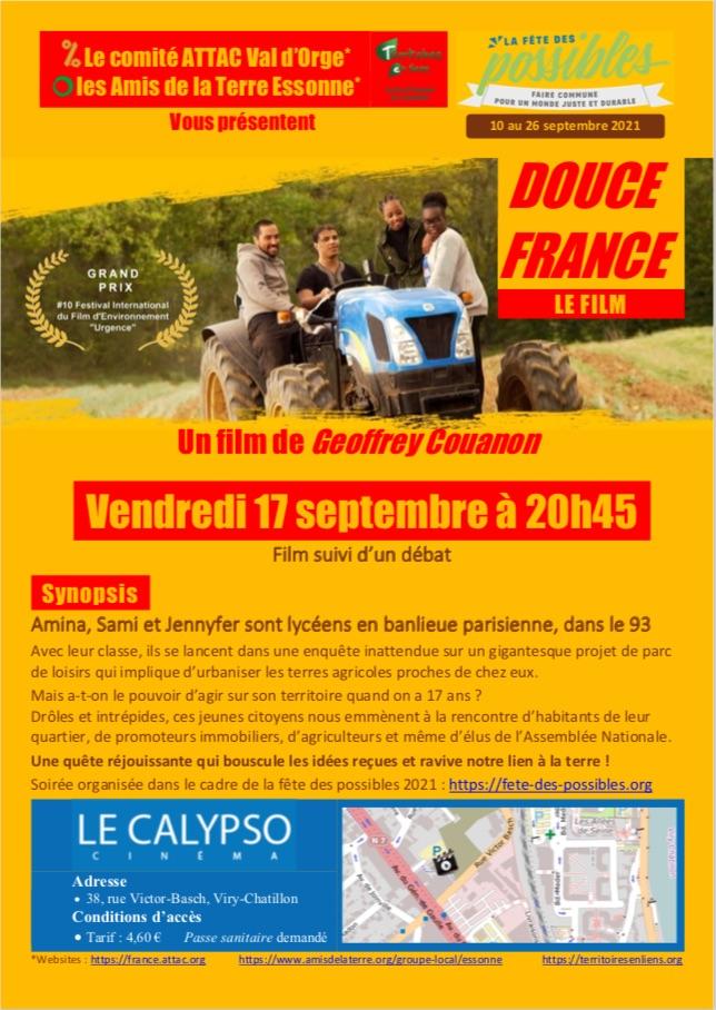 Projection/débat du film Douce France au Cinéma Le Calypso