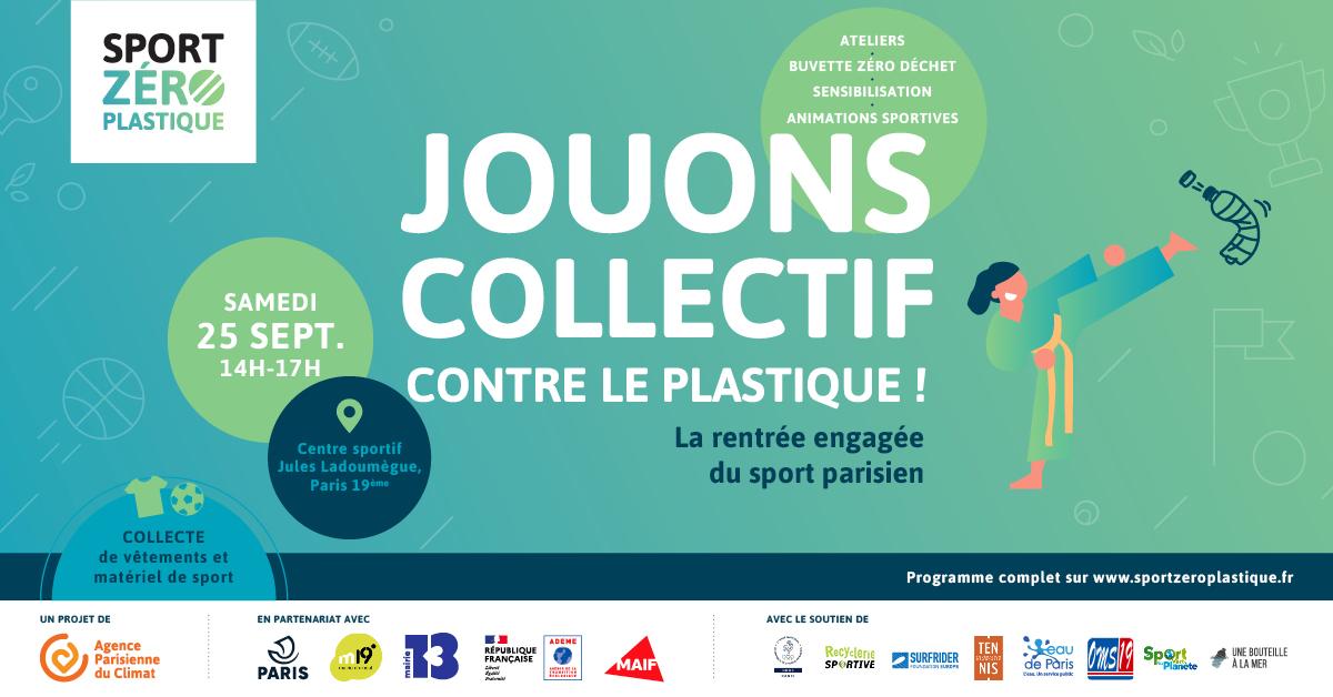 Jouons collectif contre le plastique · Sport Zéro Plastique fait sa rentrée dans le 19ème