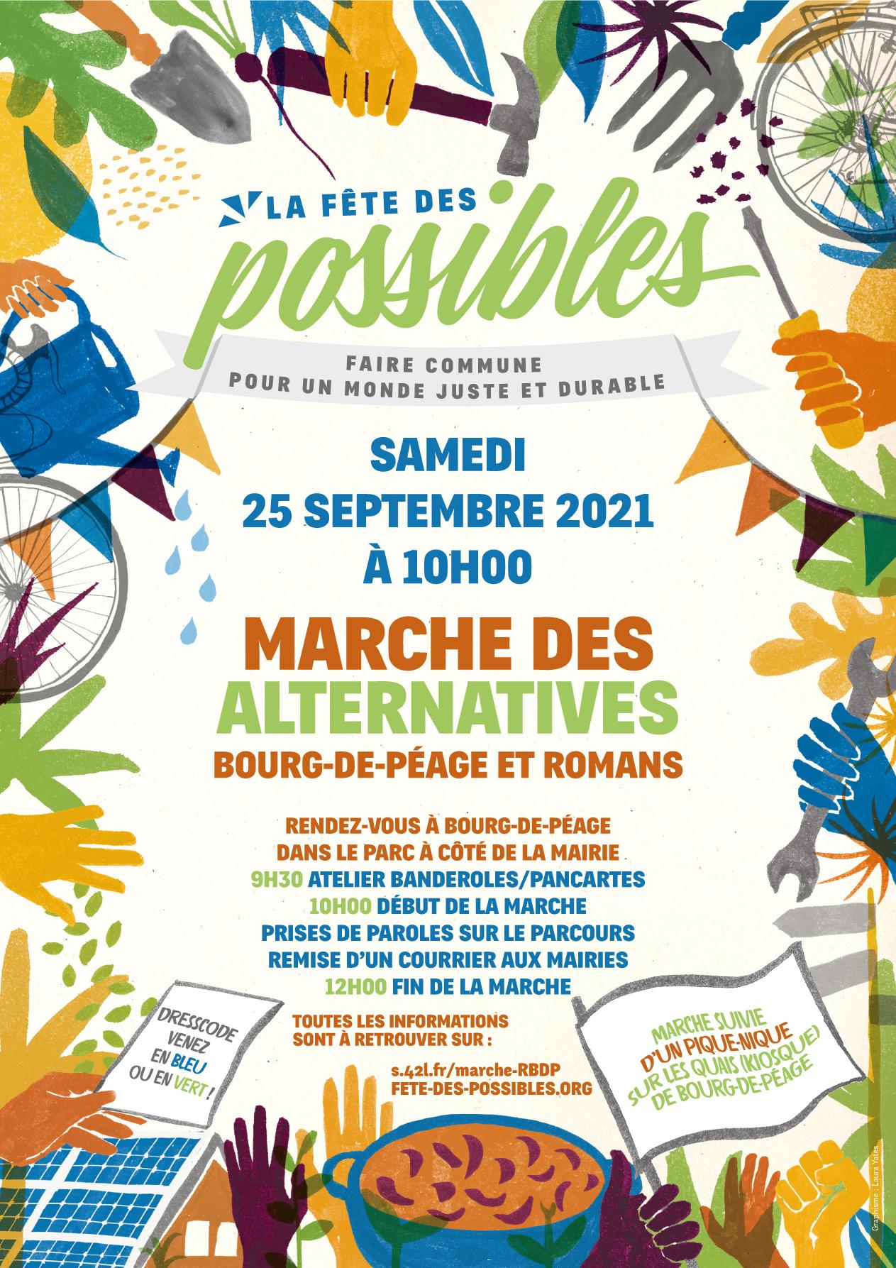 Marche des alternatives à Bourg-de-péage et Romans/Isère