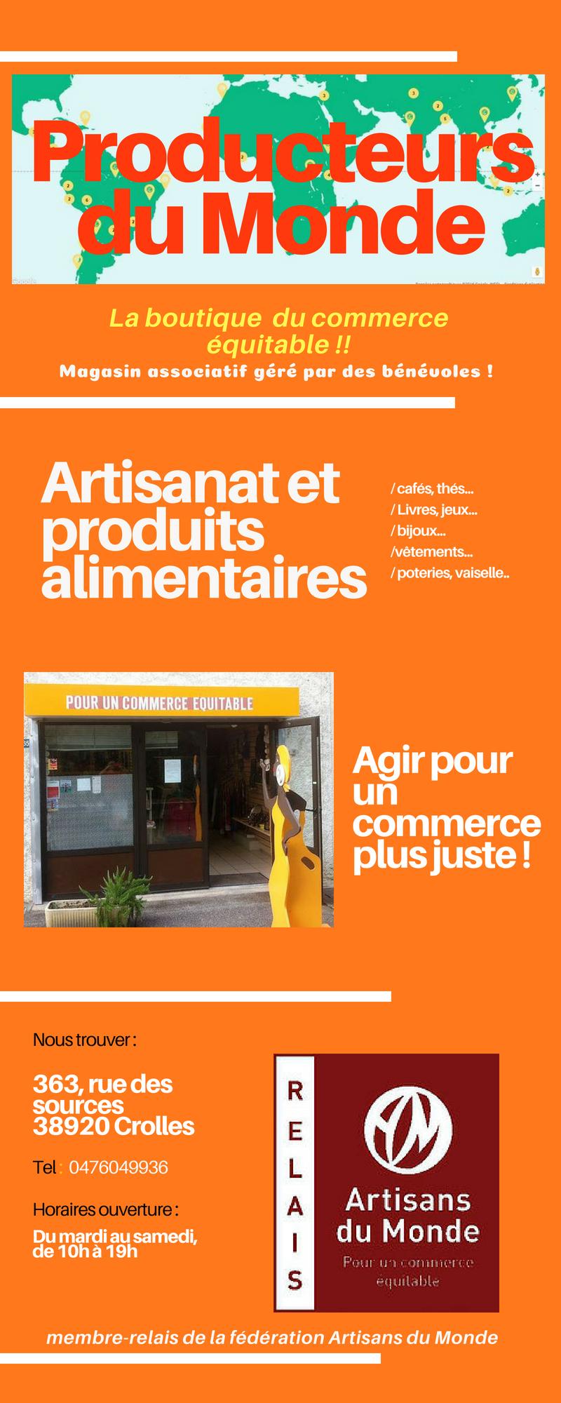 «Equitable conso» avec Producteurs du Monde-Grésivaudan