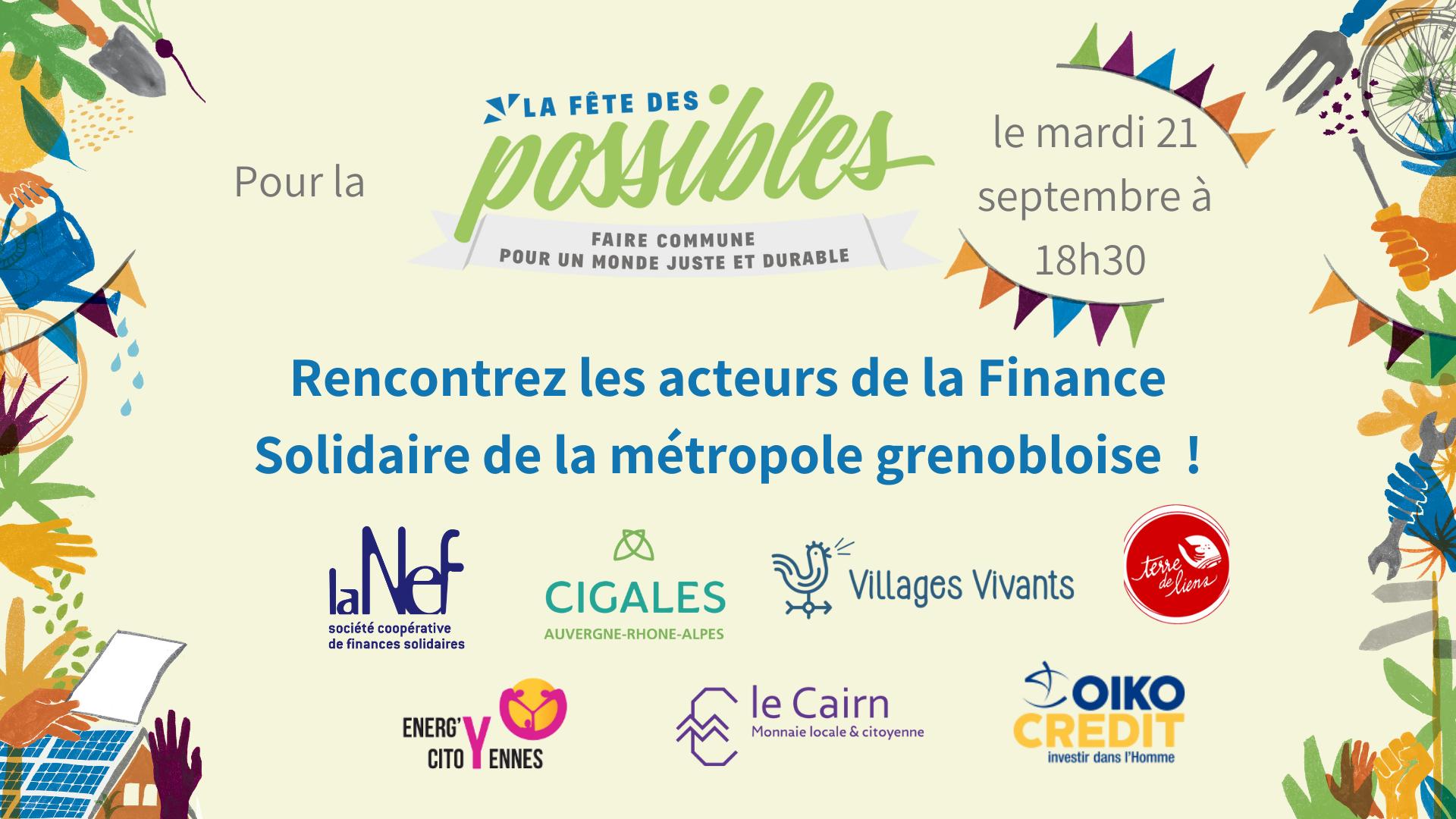 Rencontre des acteurs de la Finance Solidaire // métropole de Grenoble