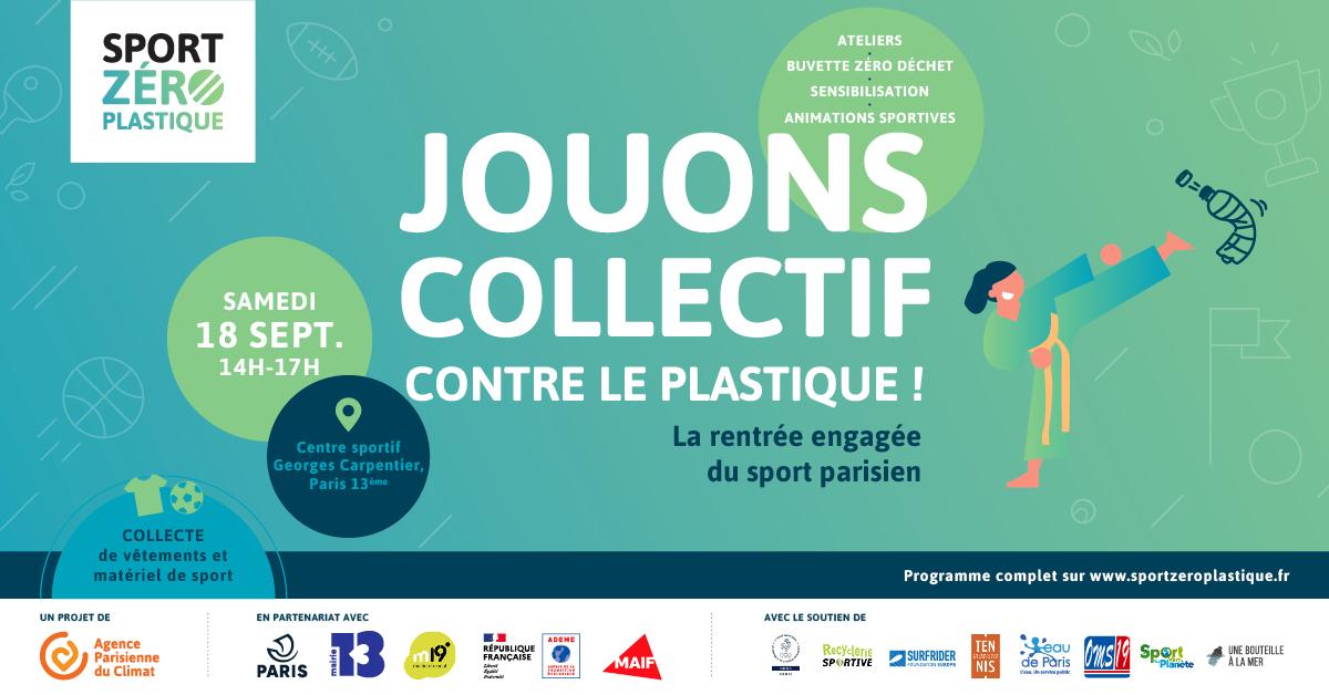 Jouons collectif contre le plastique · Sport Zéro Plastique fait sa rentrée dans le 13ème